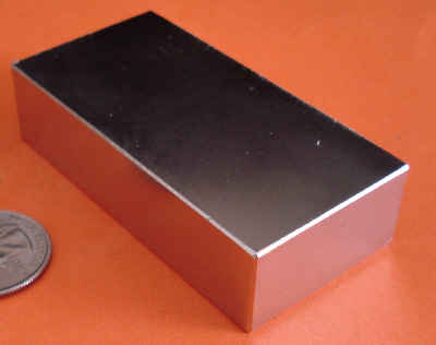 Neodymium Magnets 4 in x 2 in x 1 in Strong Rare Earth Block N42