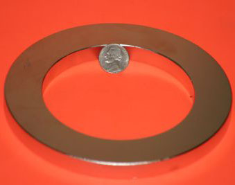 Neodymium NdFeB Magnets 6 in OD x 4 in ID x 1/2 in Ring N42