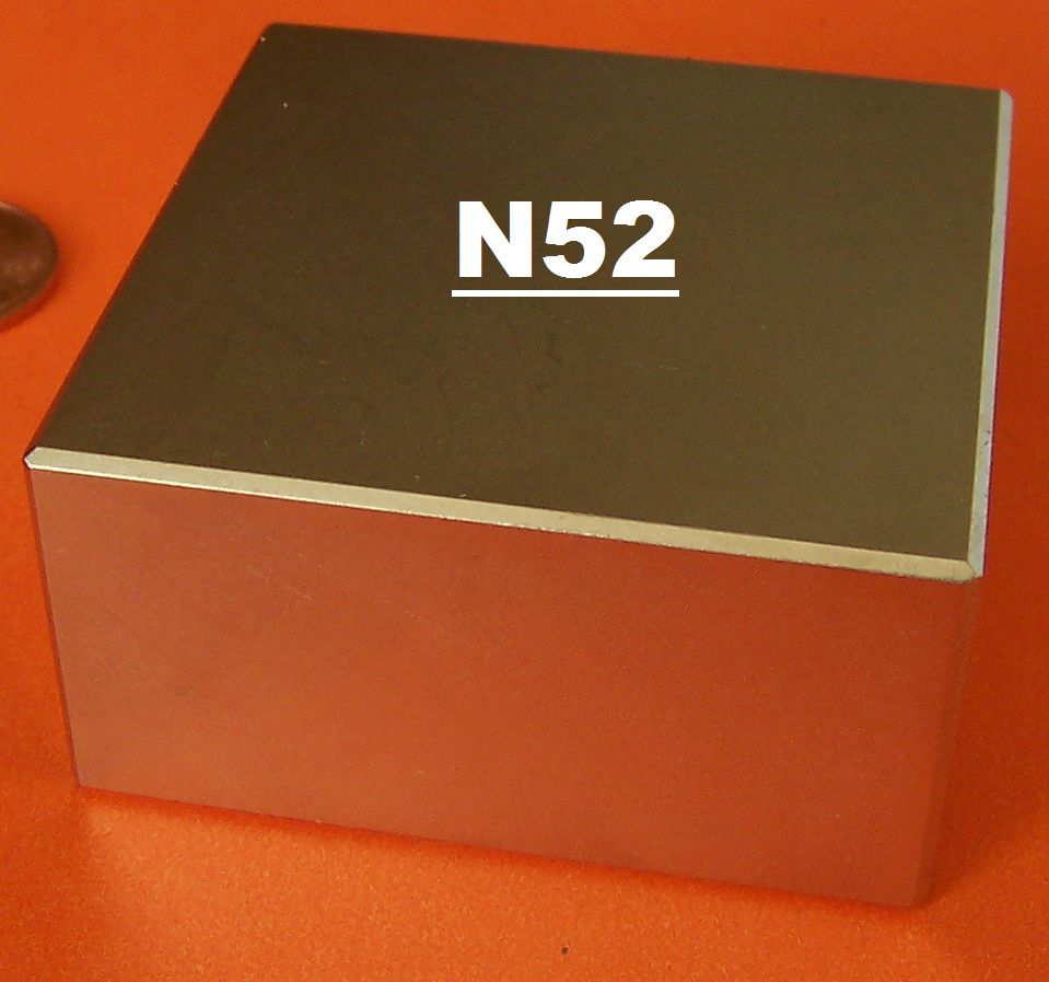 N52 Neodymium Magnets NdFeB Block 2 in x 2 in x 1 in