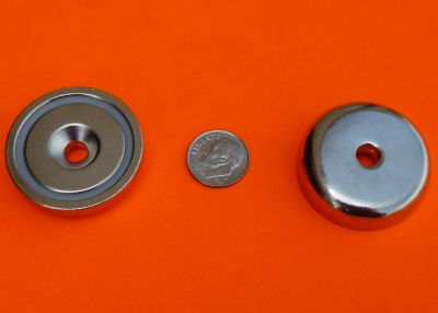 1.42 inch Neodymium Cup Magnets 100 lbs 36 mm Metric Holder