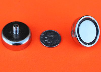 Rare Earth Cup Magnets w/M5 Threaded Male Stud 1 inch
