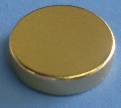 Therapy Magnets Gold Coated 1/2 in x 1/8 in Rare Earth Magnets