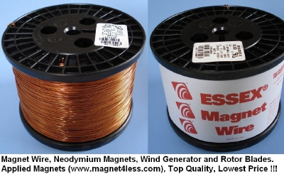 Essex Magnet Wire 21 AWG Gauge Enameled 10LBS