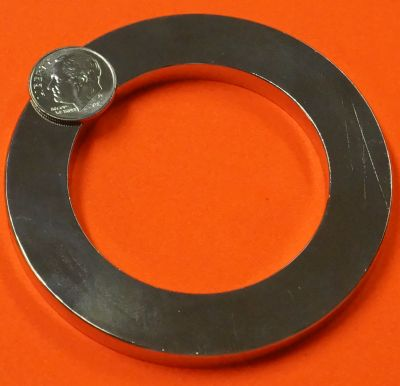Neodymium Ring Magnets 3 in OD x 2 in ID x 1/4 in Rare Earth