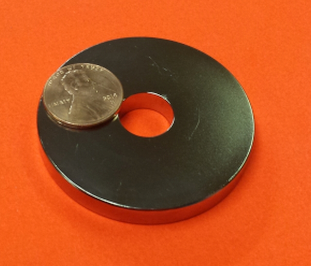 N45 Neodymium Magnets 2 in OD x 1/2 in ID x 1/4 in Rare Earth Ring