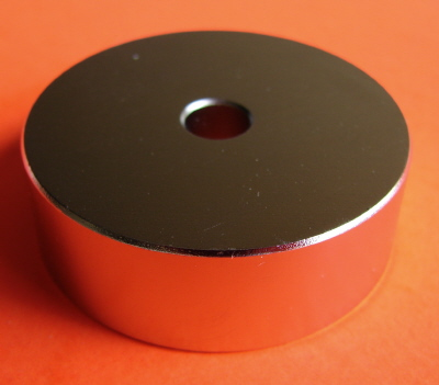 Neodymium Magnets 3 in x 1 in Disc with 1/4 in Hole