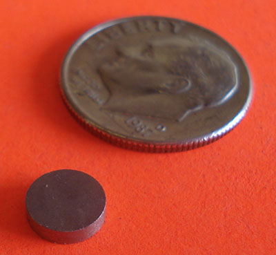 Samarium Cobalt Magnets 1/4 in x 1/16 in Disc
