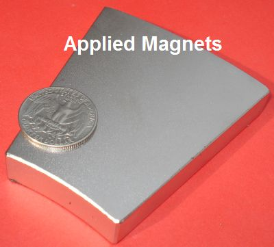 Rare Earth Magnets 12 in OD x 6 in ID x 1/2 in Neodymium Wedge