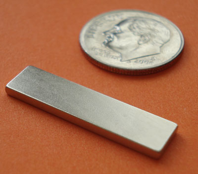 N45 Rare Earth Magnets 1 in x 1/4 in x 1/16 in Neodymium Bar