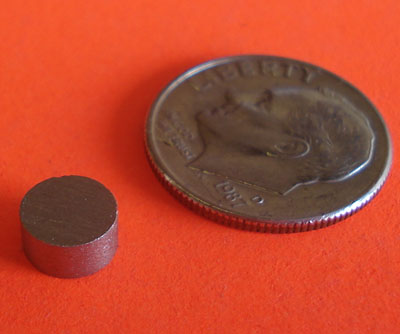 SmCo Magnets 1/4 in x 1/8 in Disc Samarium Cobalt
